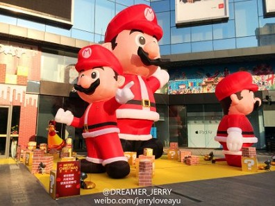 New design decorative inflatable christmas cartoon for advertising