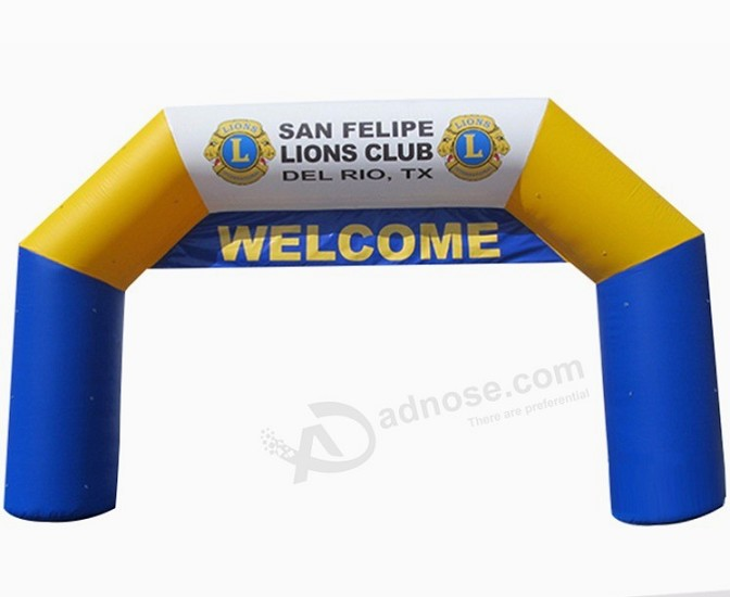 Cheap custom printing logo inflatable activities arch