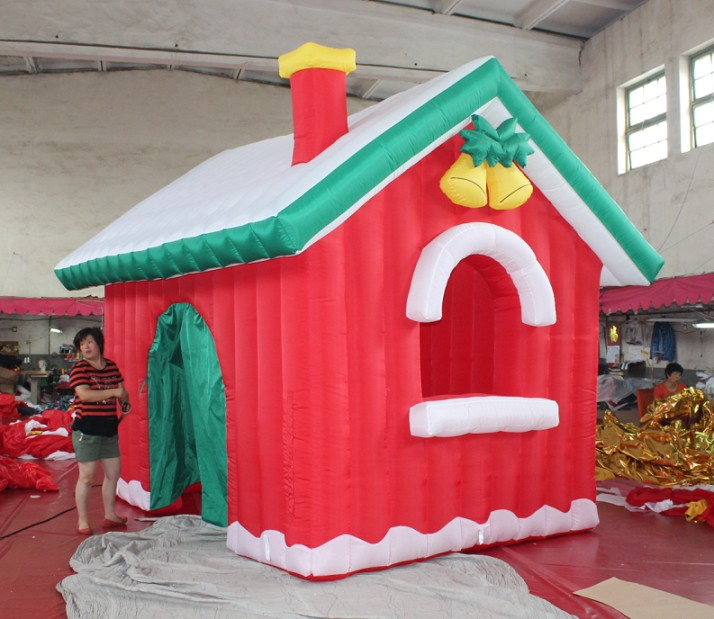 Outdoor Decoration Red Inflatable Christmas Tent Wholesale