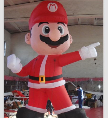Decorative Christmas Inflatable Super Mario for Outdoor