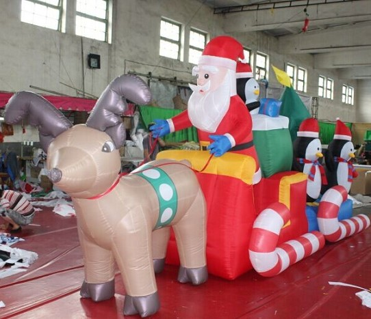 Factory Custom Christmas Decoration Inflatable Reindeer for Sale